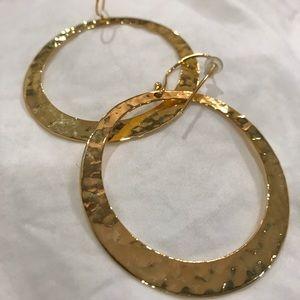 GORGEOUS Argentine Vivo Gold Hoop Earrings!